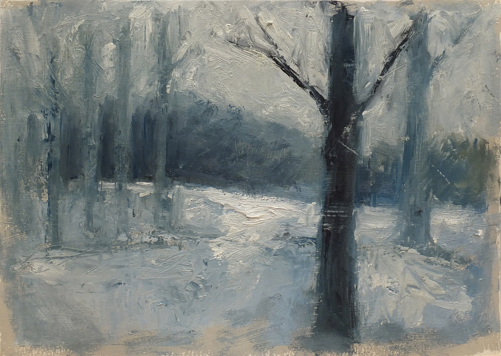 """oil on paper/gesso 8 1/2 x 12"""""""