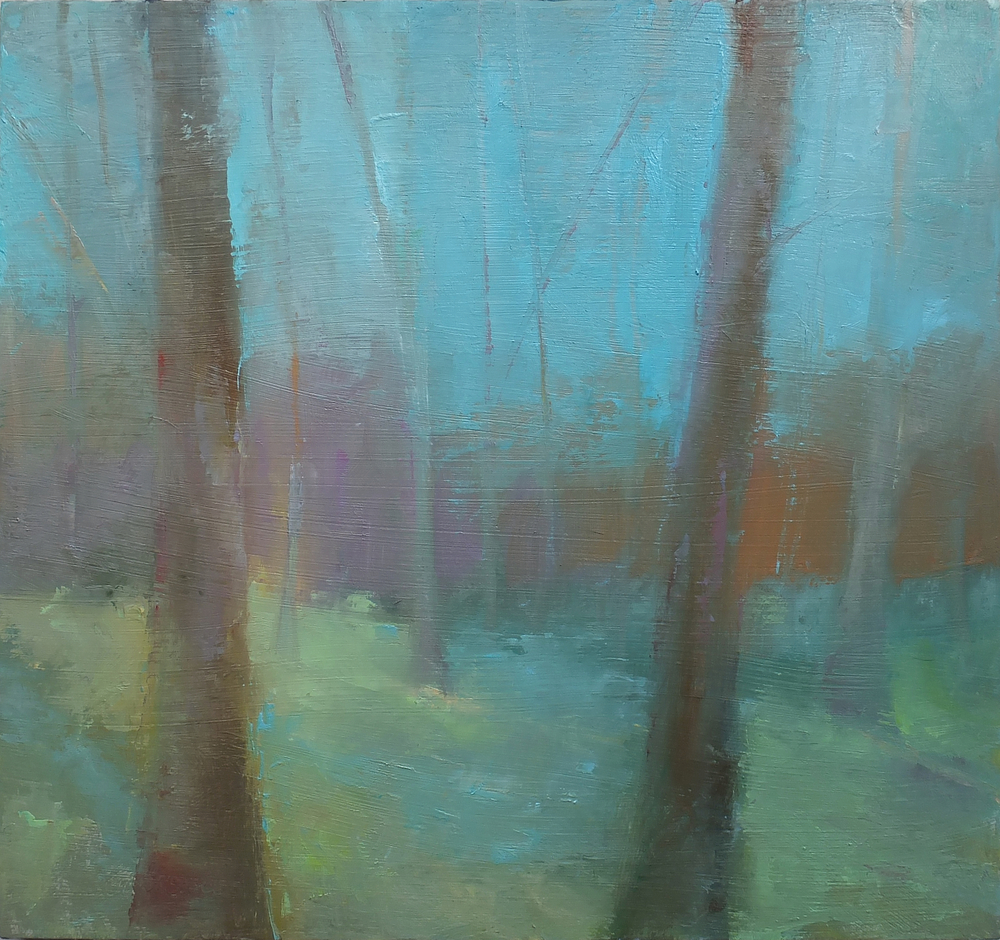 Welcome Spring oil/wood 14 x 15""