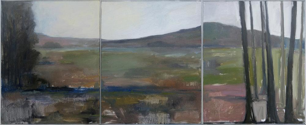 "Triptych 30 x 72"" oil/canvas 2.11.17"