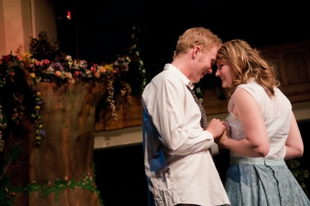 As Helena in The Shakespeare Company's  A Midsummer Night's Dream  - 2009     with Clifford Kelly