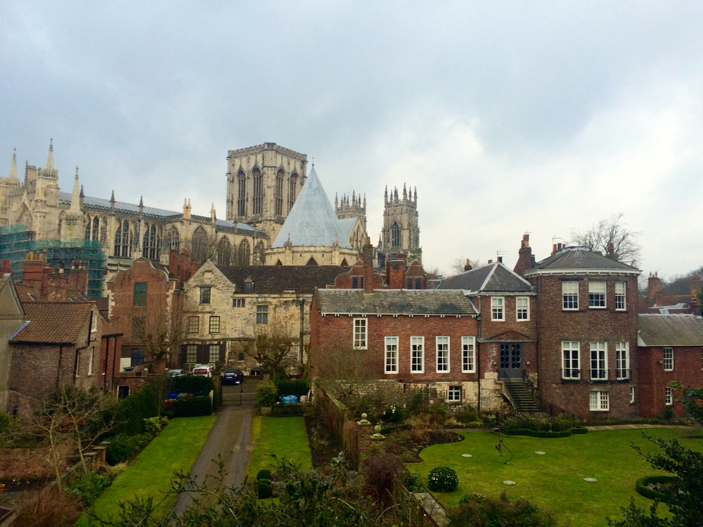 View while walking along the Roman city walls.. I mean really, it can't get more charming than that!