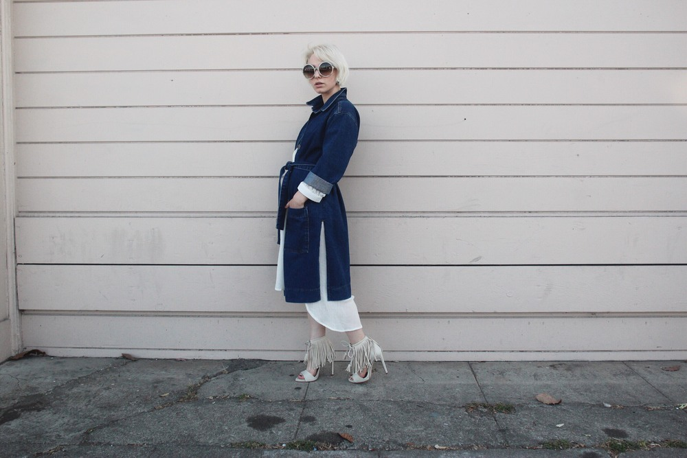 Jacket:  Topshop , Dress:  The Podolls , Shoes:  Zara , Sunglasses:  Tom Ford
