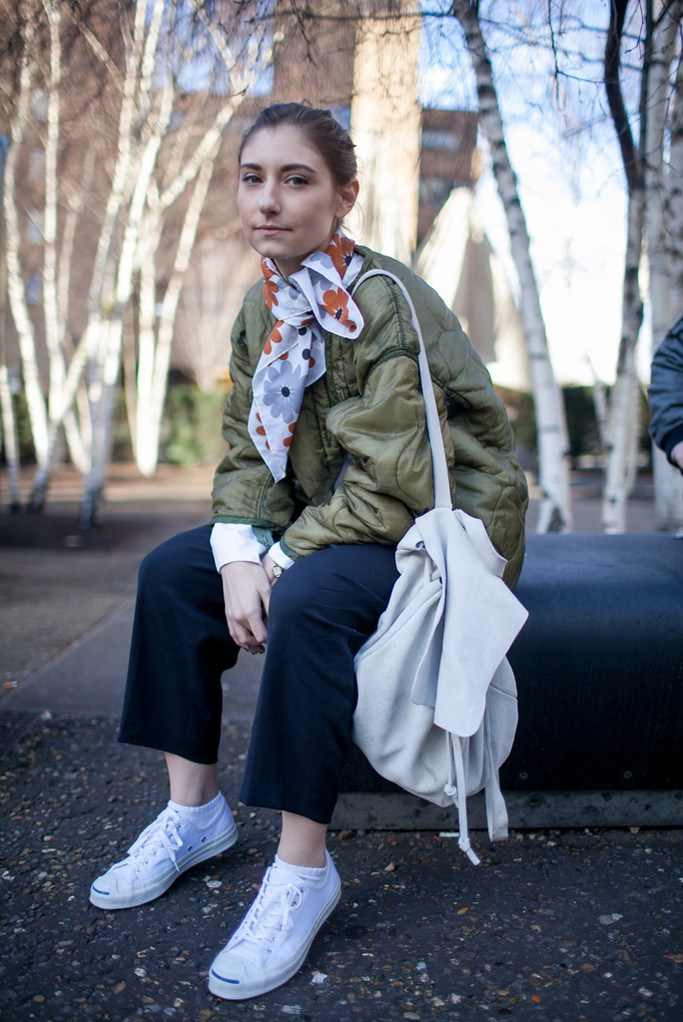 We're loving thisoversized look and fun floral twist