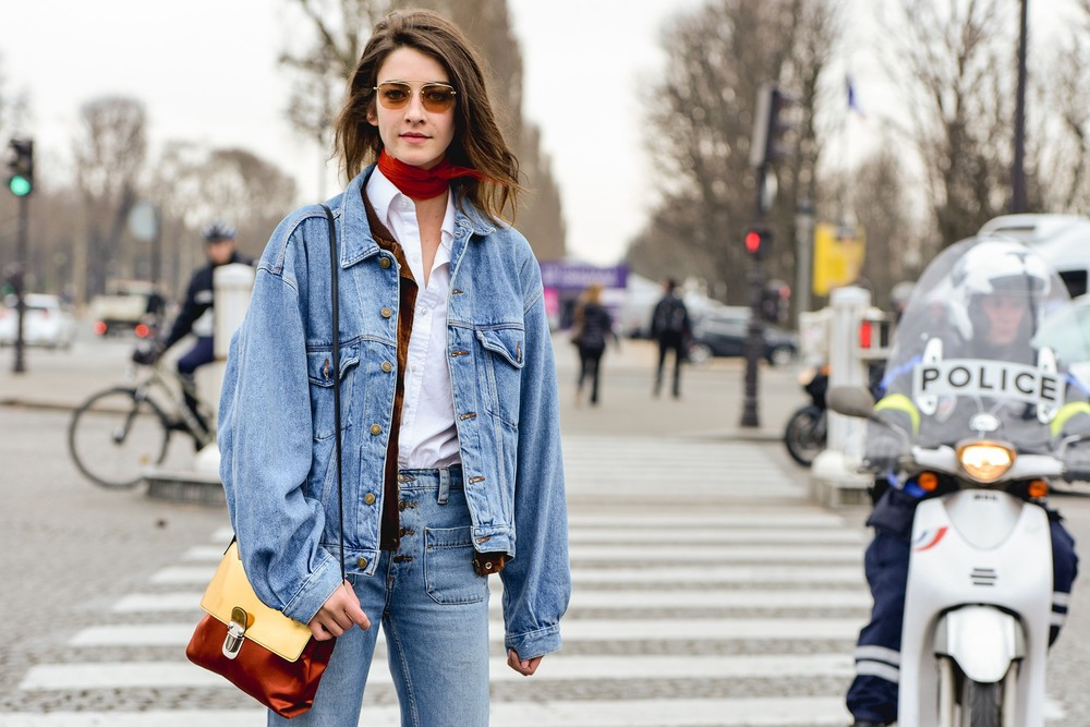 Mix up your classic denim on denim look