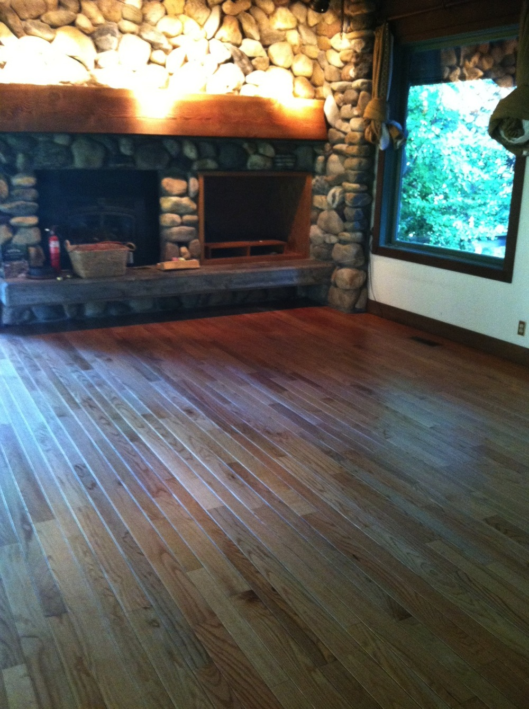 Refinished V-Groove Red Oak