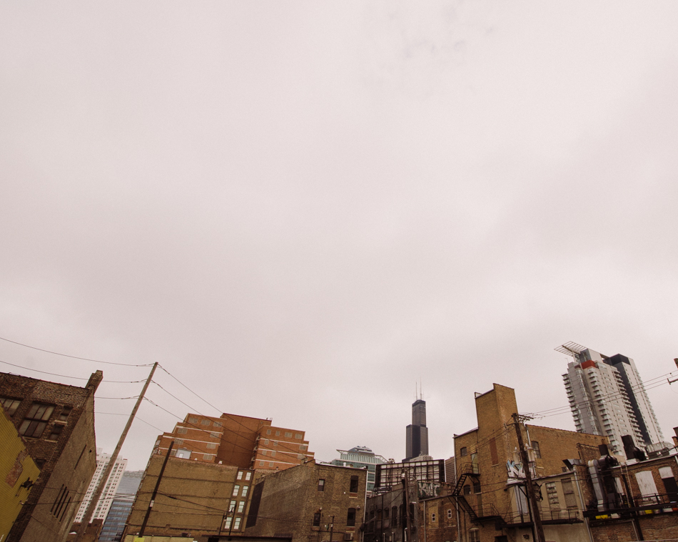 Chicago Skyline, from West Loop;  November 22, 2013