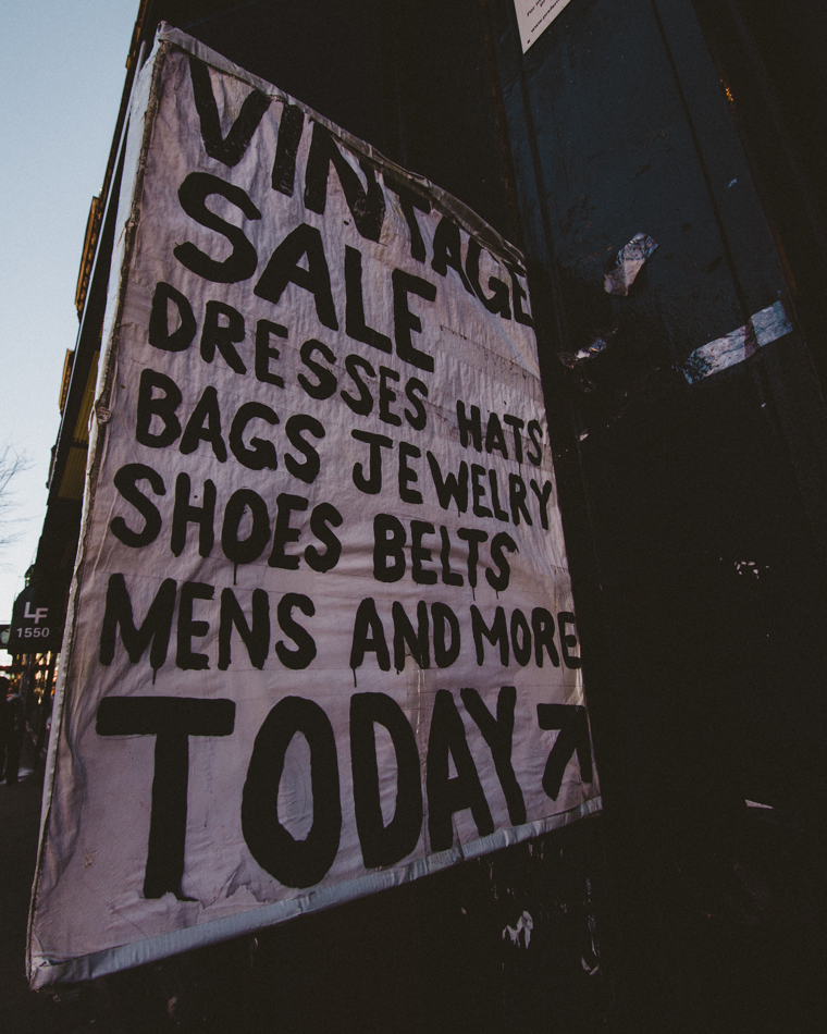 Vintage Sale, Wicker Park;  November 24, 2013