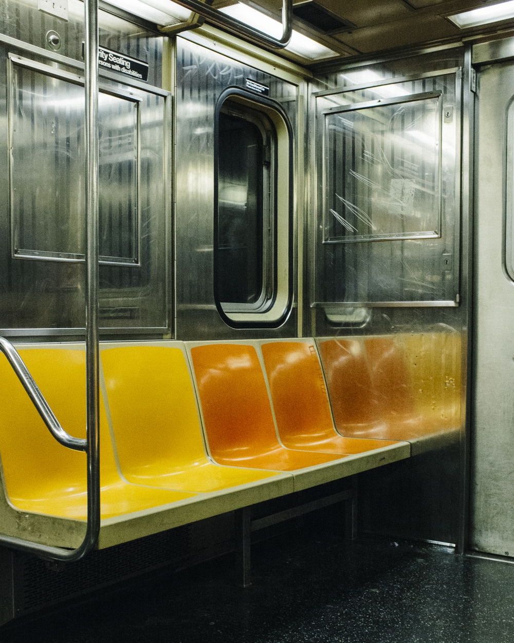 Empty Subway Car, Manhattan