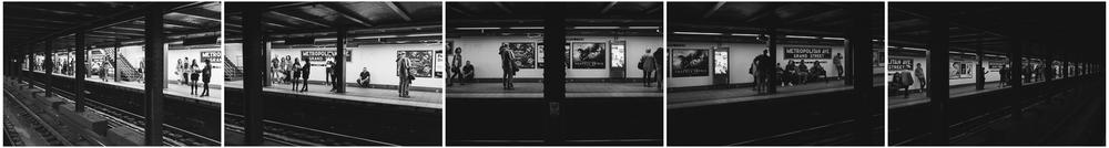 Metropolitan Ave Subway Platform, Williamsburg, Brooklyn;September 2014