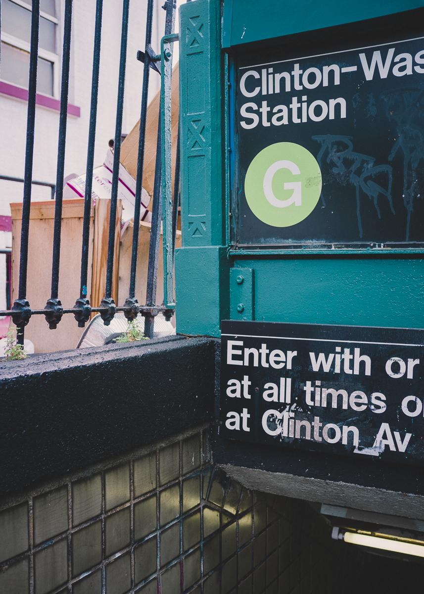 Clinton/Washington Subway Station, Clinton Hill, Brooklyn; September 2014