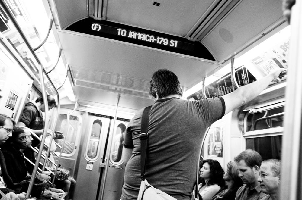 F Train, New York City; September 2014