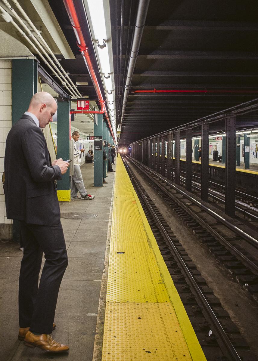 Clinton-Washington Station Platform, Clinton Hill, Brooklyn;September 2014