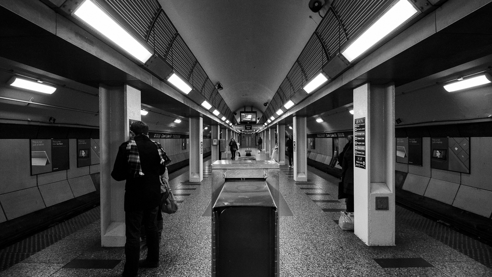 Clark/Lake Platform, The Loop, Chicago;November 2013