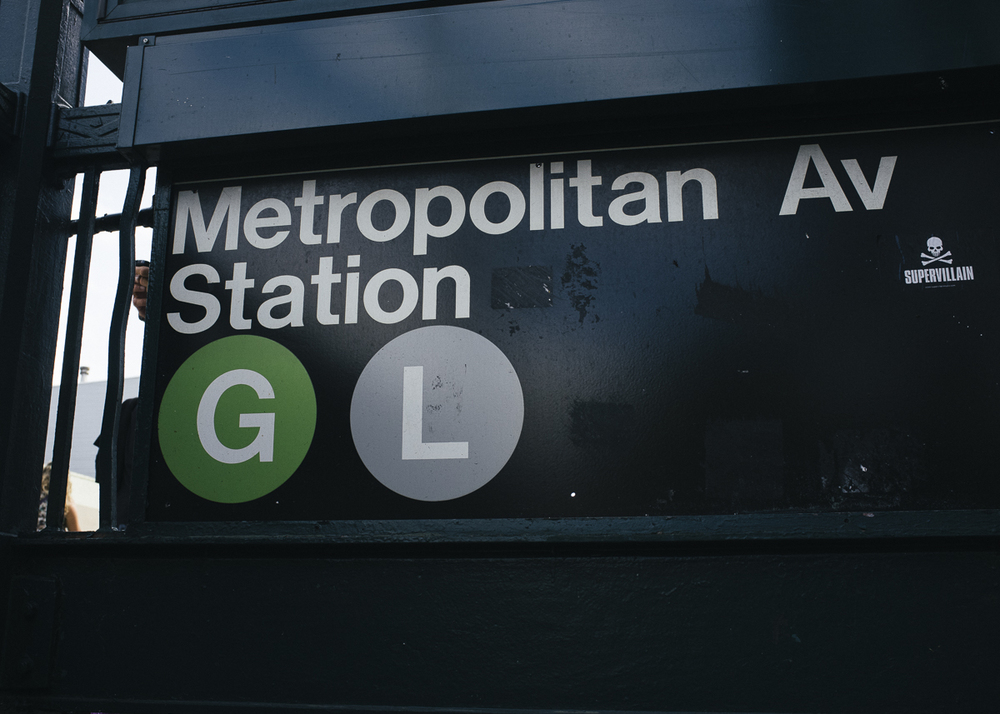 Metropolitan Ave Station, Williamsburg, Brooklyn;September 2014