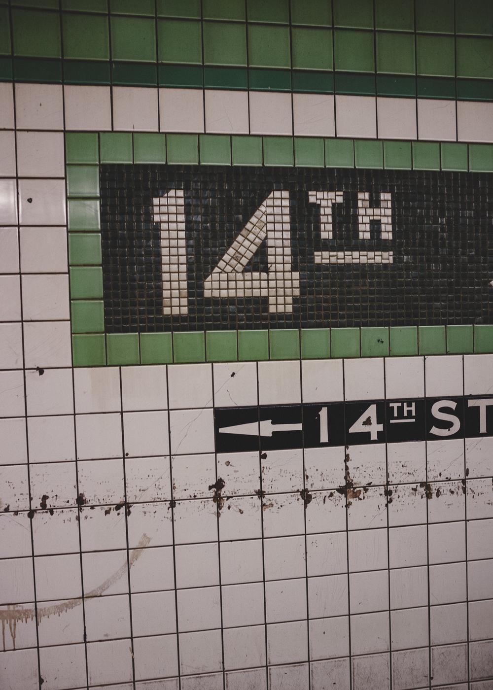 14th Street Station, Chelsea, Manhattan; September 2014