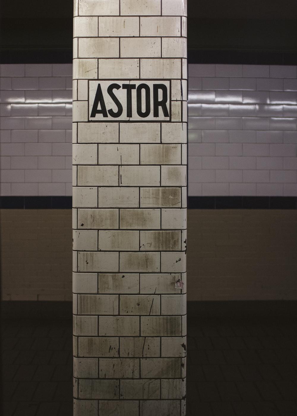 Astor Pl Station, East Village, Manhattan;September 2014