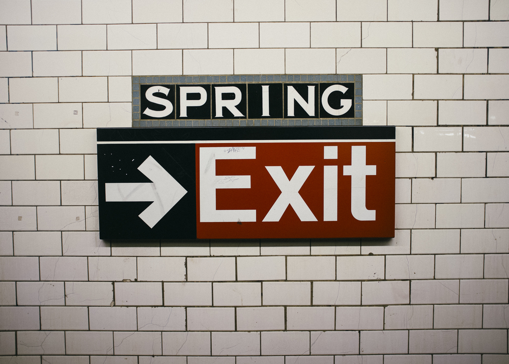 Spring Street Station, Manhattan; September 2014