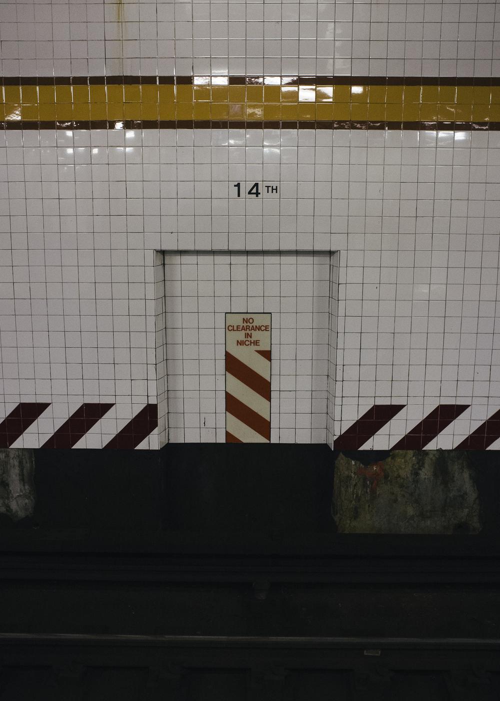 14th Street Station, Chelsea, Manhattan;September 2014