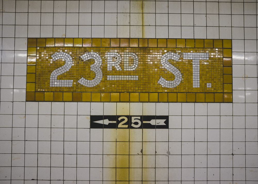 23rd St. Station, Gramercy, Manhattan;November 2014