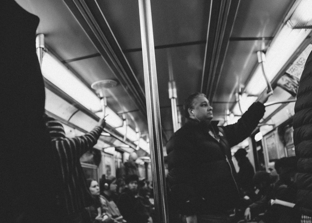 E Train, Manhattan; November 2014