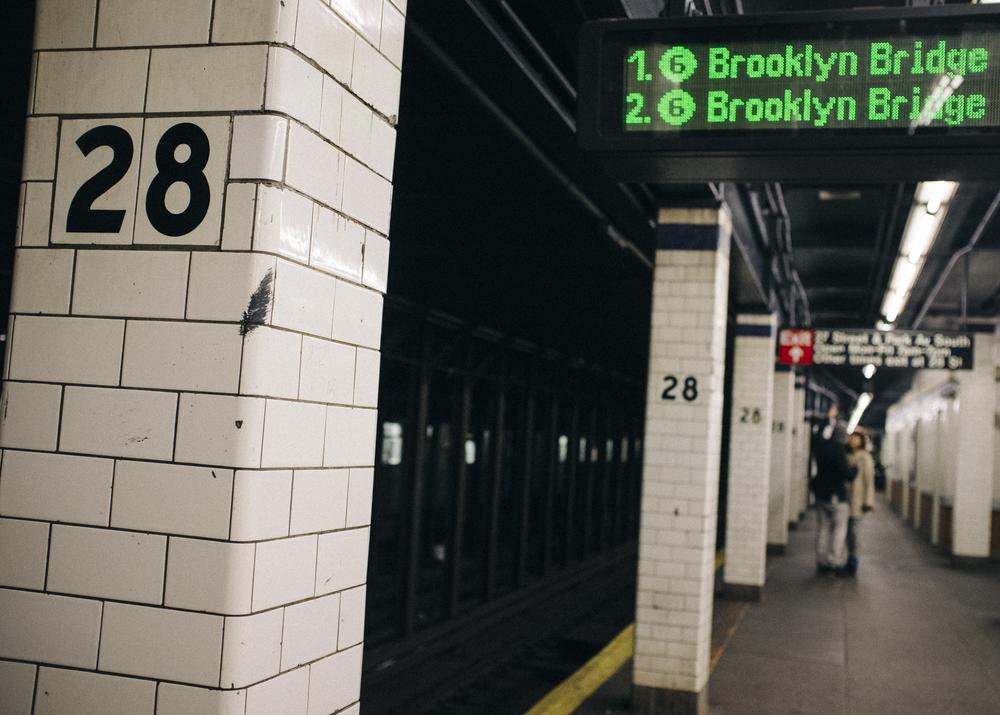28th Street Station Platform, Kips Bay, Manhattan; November 2014