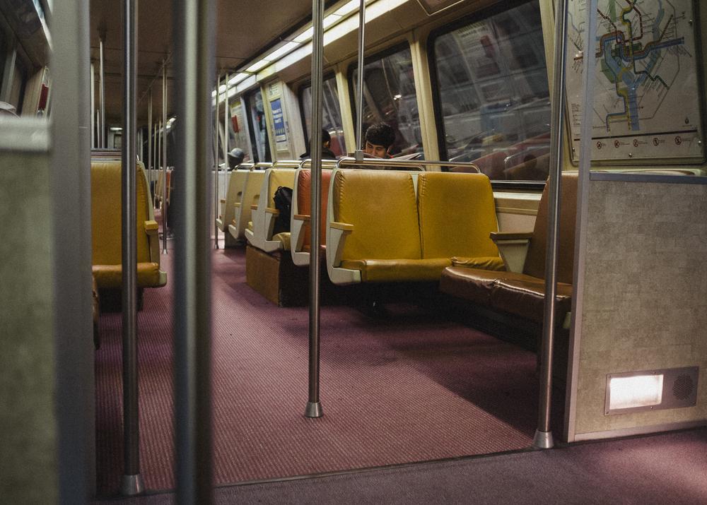 Blue Line, Metro, Washington DC;May 2015
