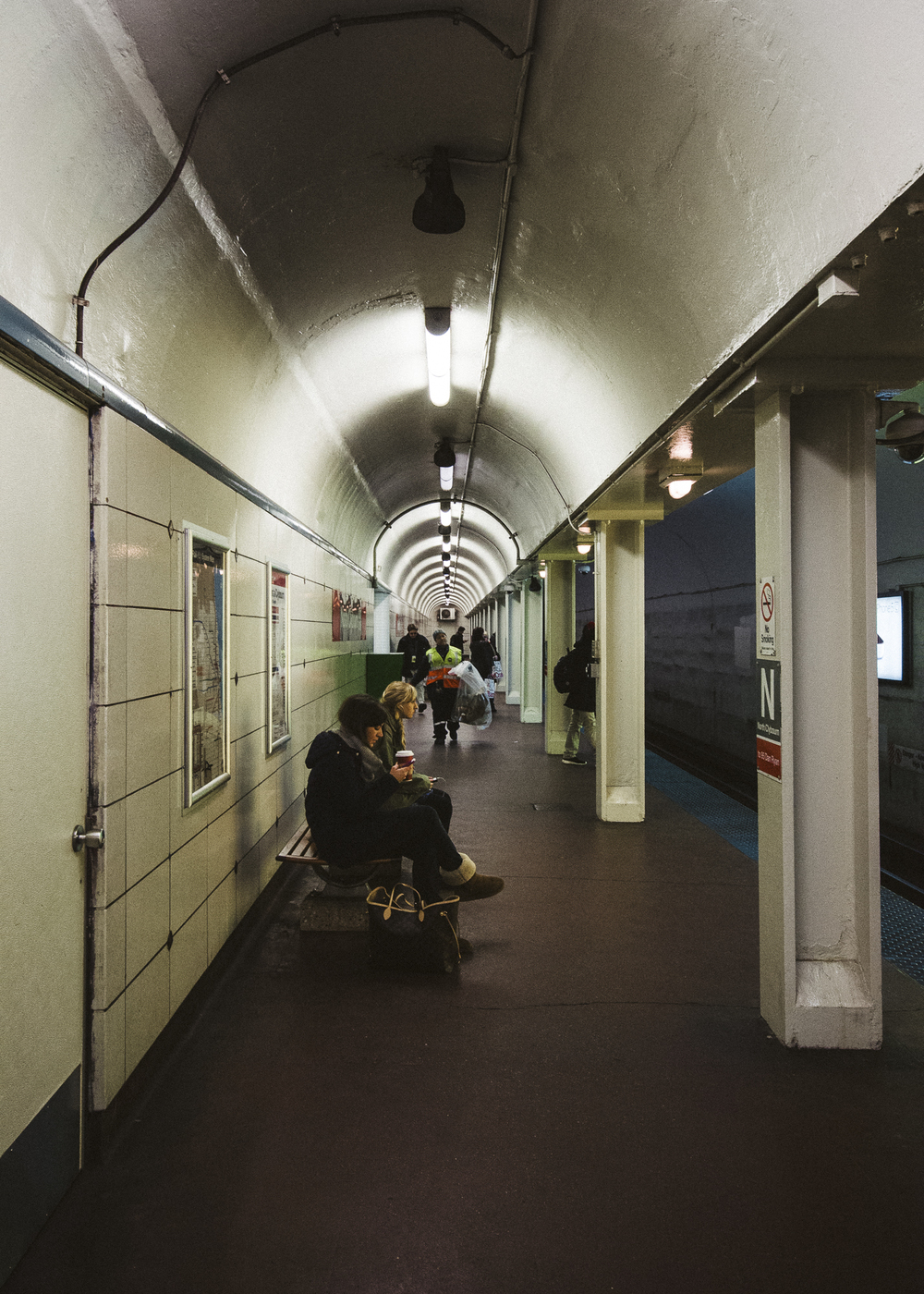 North/Clybourn Station Platform, Lincoln Park, Chicago;November 2013