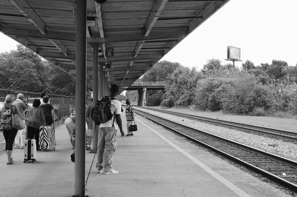 Amtrak Platform, North Charleston, SC;September 2012
