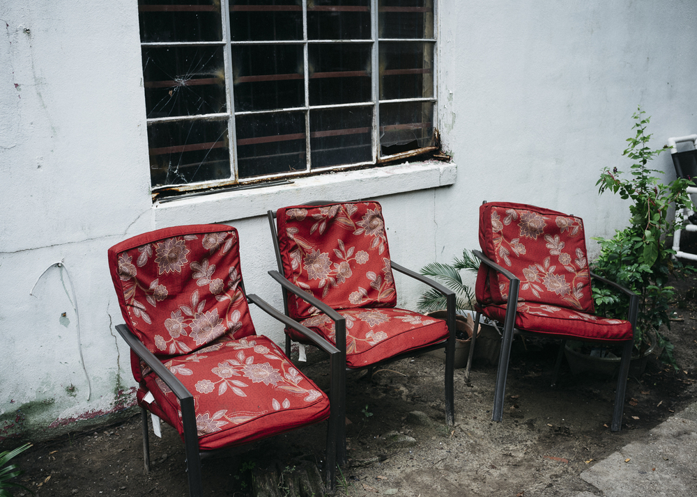 Red Chairs, King Street, North Central, Charleston;  September 2015
