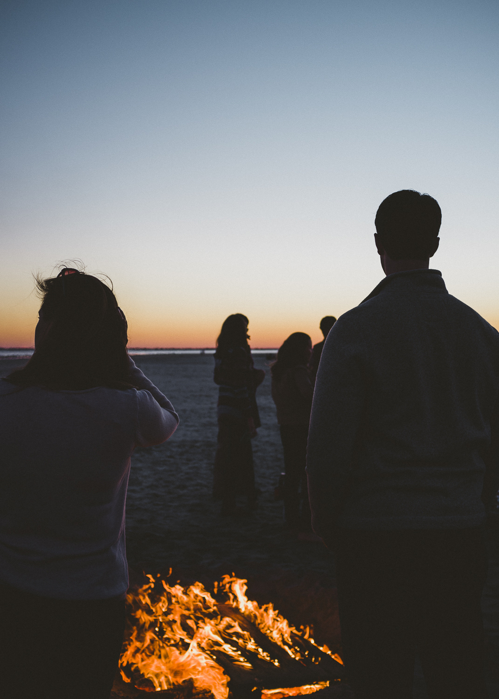 Bonfire, Sullivan's Island, SC;  October 2015