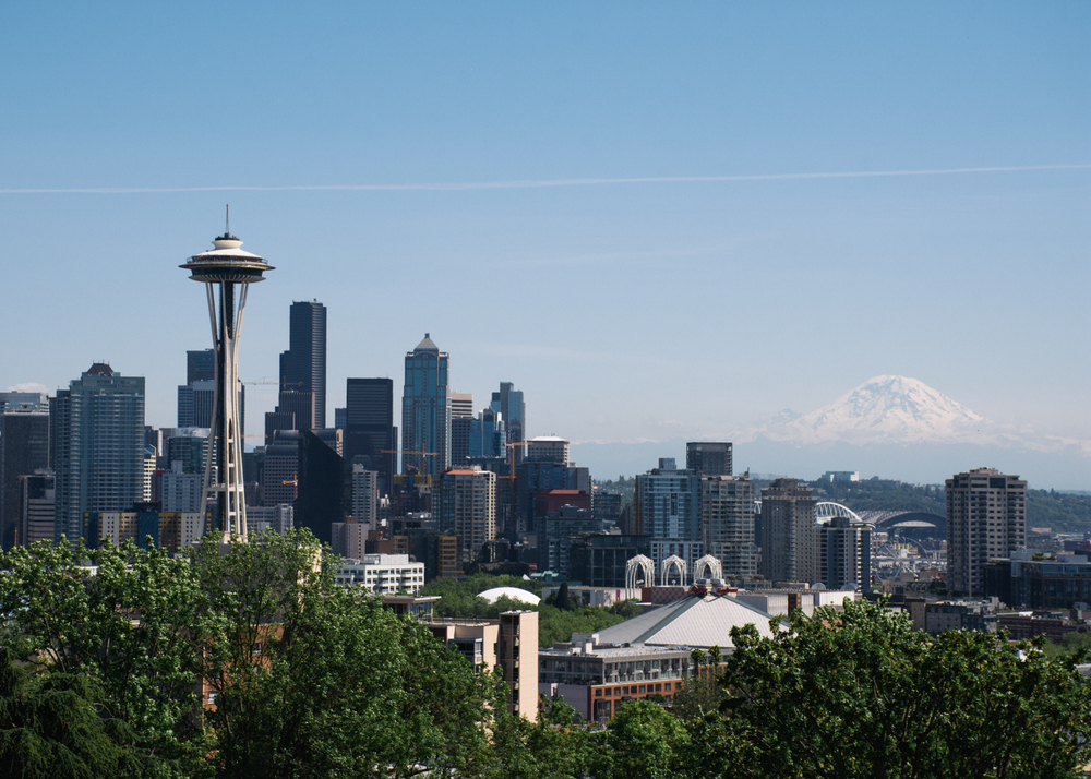 Seattle Skyline & Mount Rainier from Kerry Park, Queen Anne