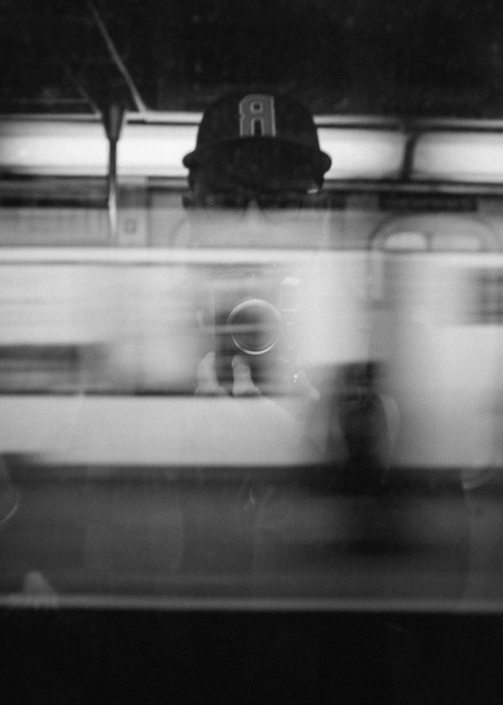 Manhattan Bound 3 Train Self Portrait