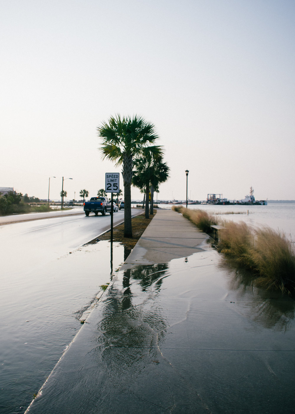 King Tide over-topping Lockwood Dr, Charleston;  November 2016