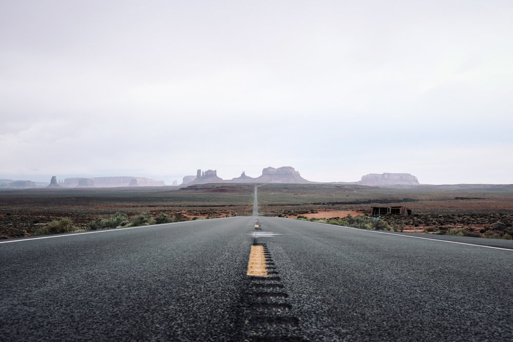 US Highway 163, Headed South into Monument Valley