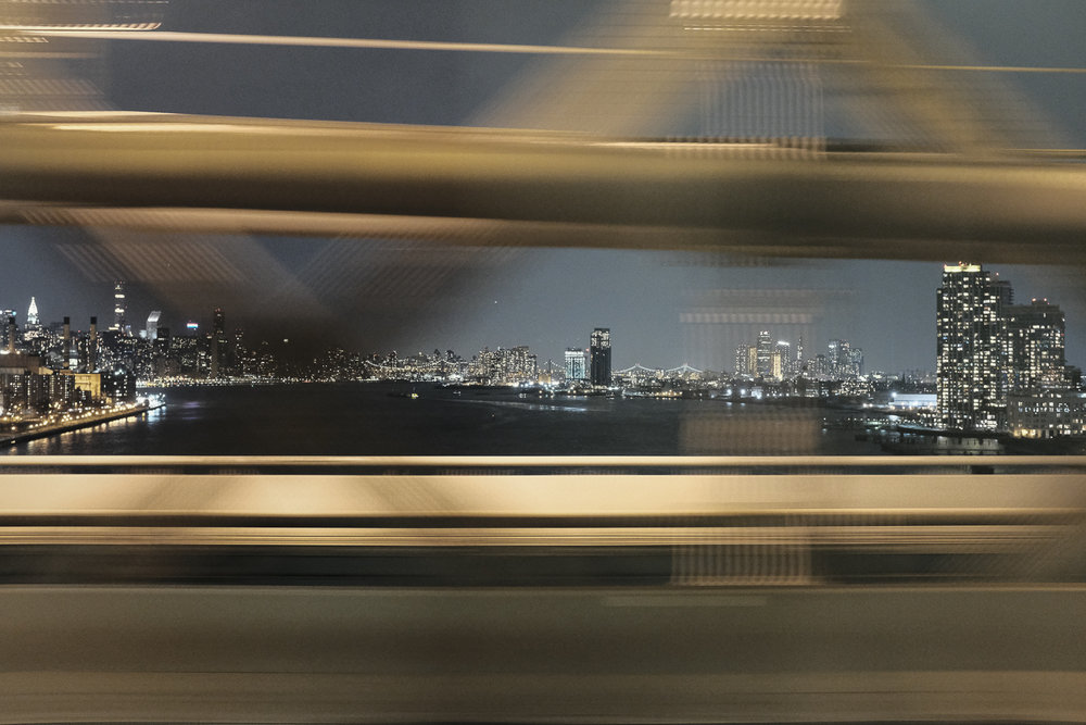 J Train View, Williamsburg Bridge, New York City;  December 2017