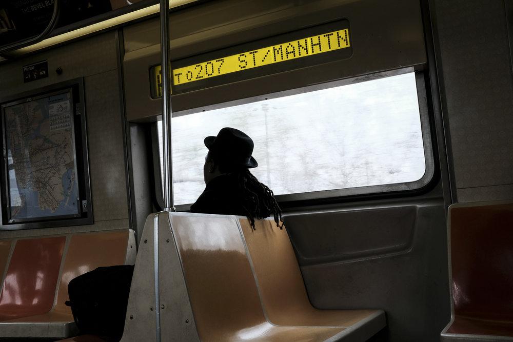 Manhattan Bound A Train, Brooklyn