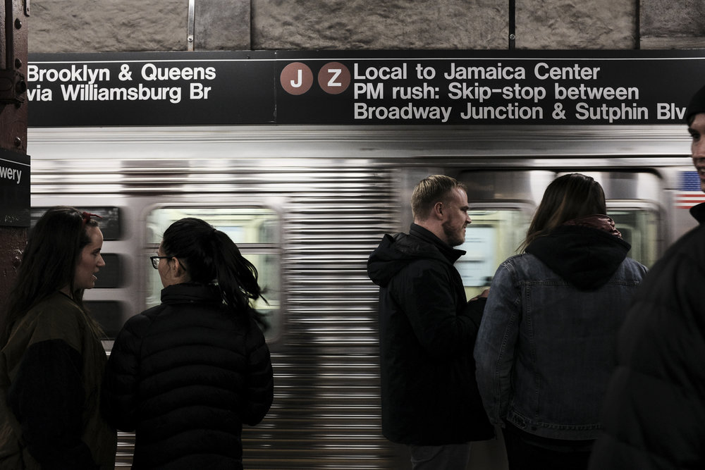 Bowery Station Platform, Manhattan