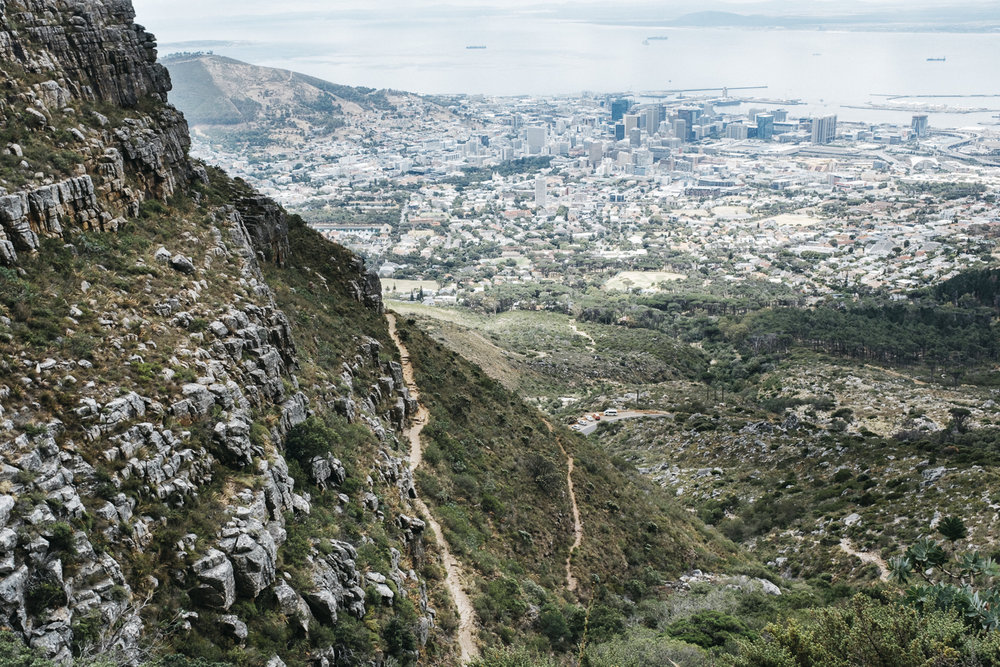 Cape Town Skyline from Platteklip Gorge Hike