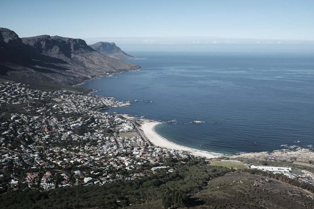 Clifton Beach, Camps Bay, & the Atlantic Ocean from Lions Head