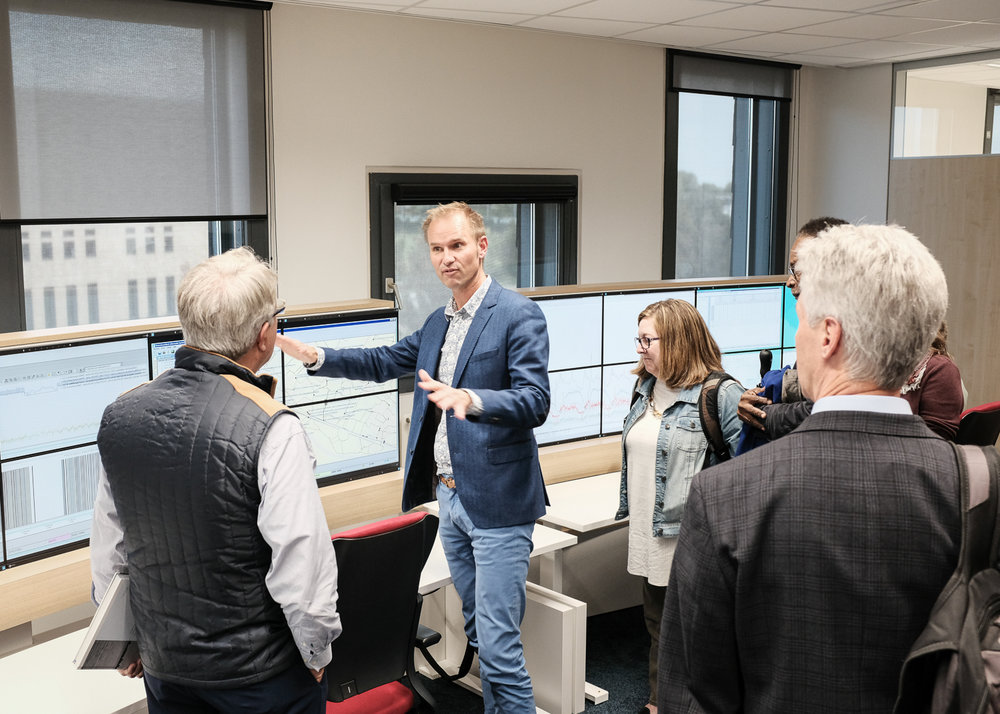 Charleston Mayor John Tecklenburg, Dale Morris of the Water Institute, and the Charleston delegation tour the Water Board Hoogheemraadschap De Stichtse Rijnlanden, Houten