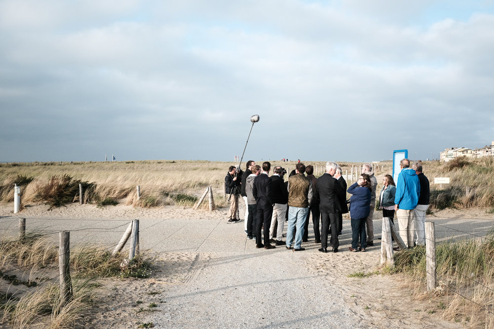 The Charleston and Baton Rouge Delegations at a briefing on the Katwijk Dune/Parking Garage Structure