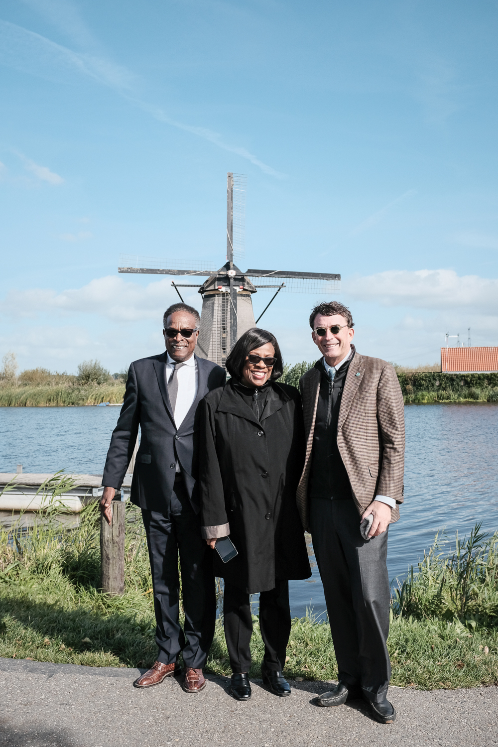 Council-members Dudley Gregorie and Michael Seekings with Baton Rouge Mayor-President Sharon Weston Broome at the Kinderjink World Heritage Site
