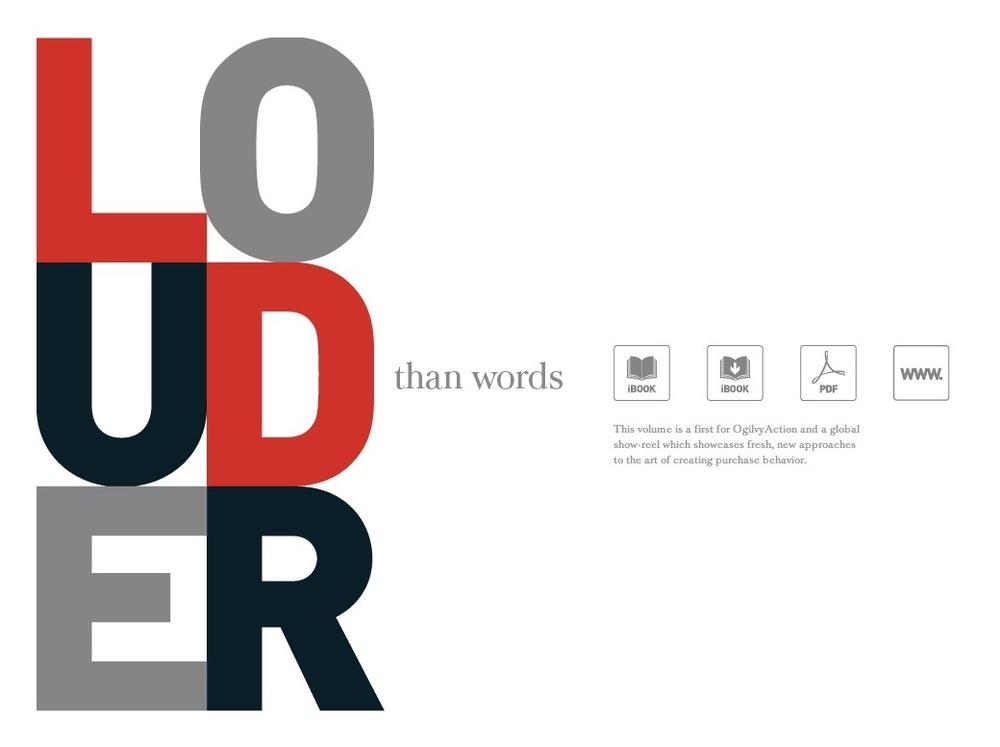 Weekend homework, download the Louder Than Words iBook
