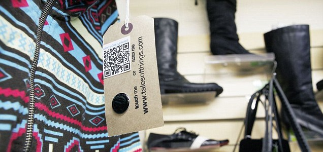 RFID and QR codes reveal old clothes' memories