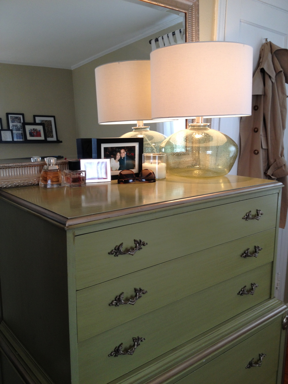 Refinish a dresser for a bedroom
