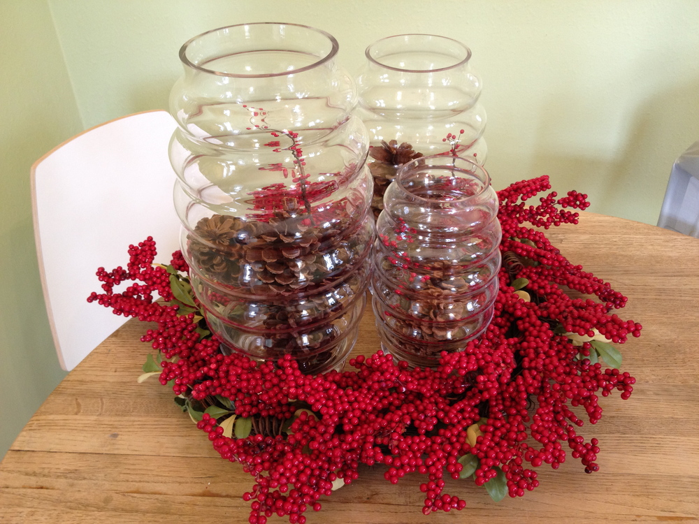 Affordable Holiday Centerpiece