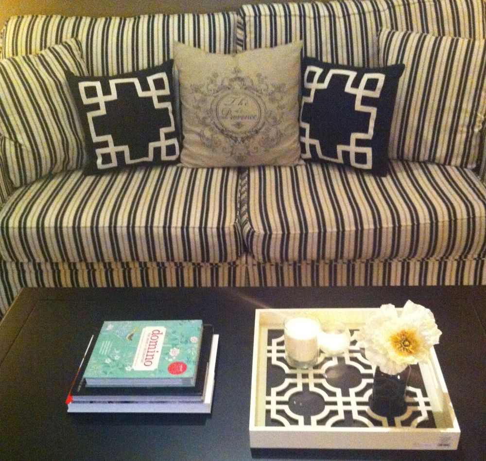 Black and White Sofa, Lacquer Service Tray