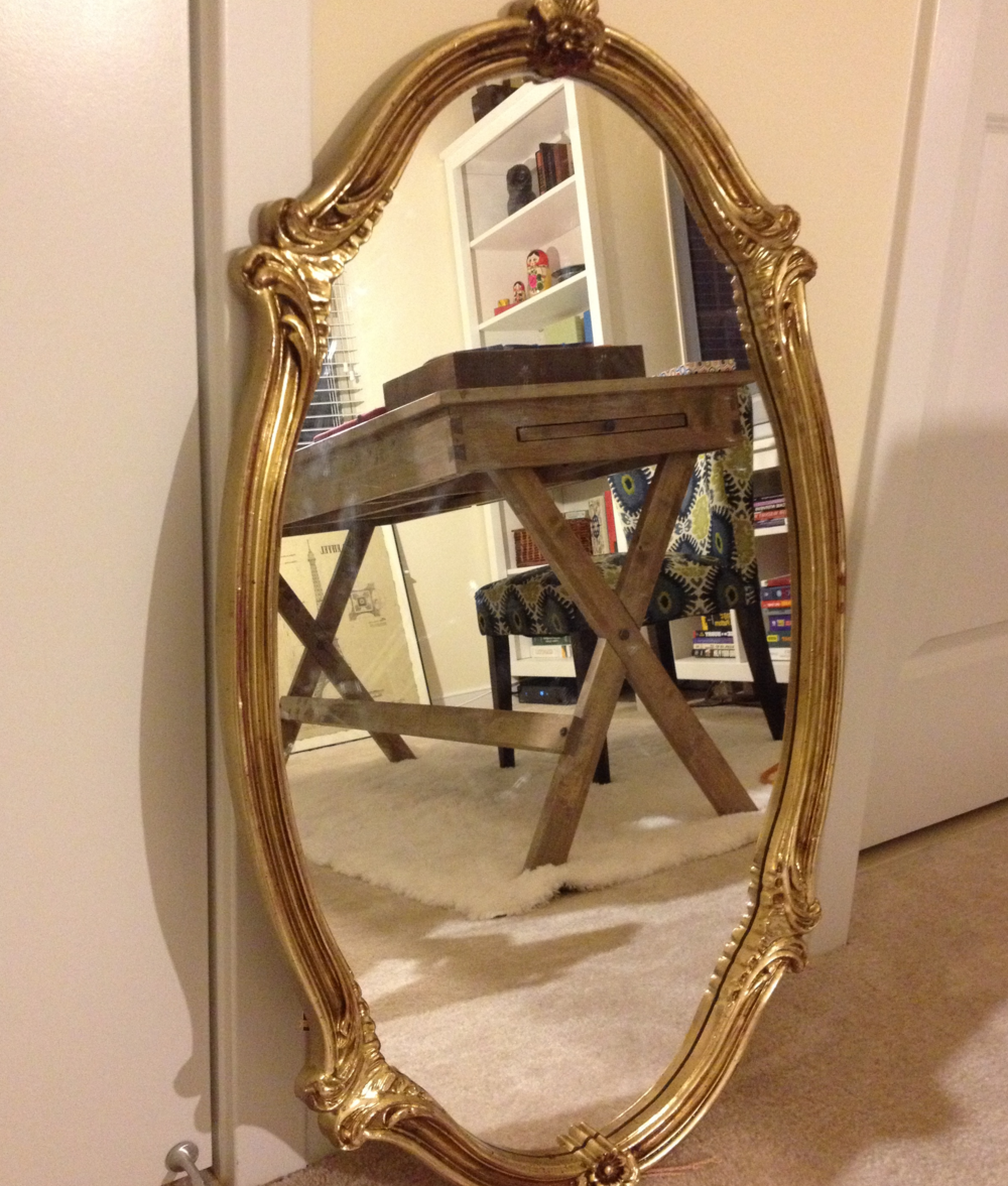 Antique mirror we found hidden behind a bunch of frames - not sure where to hang yet, but I love it! $18