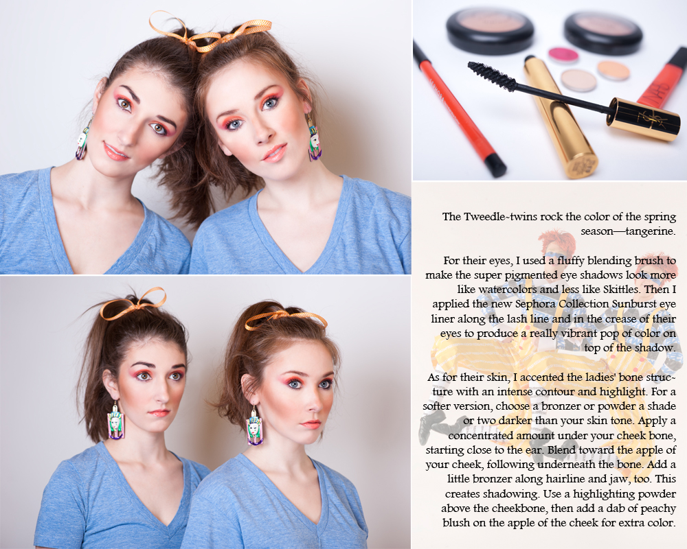 Makeup design and tutorials:  Jessica Gressa;  Photography:   Laura Fruchterman ;  Artistic direction and copy:  Liz McAvoy;  Models:  Samantha Urban, Keely Diven