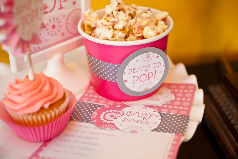 Popcorn; She's About to Pop Baby Shower; Event styled by Washington DC event planner Petite Social on Fortique